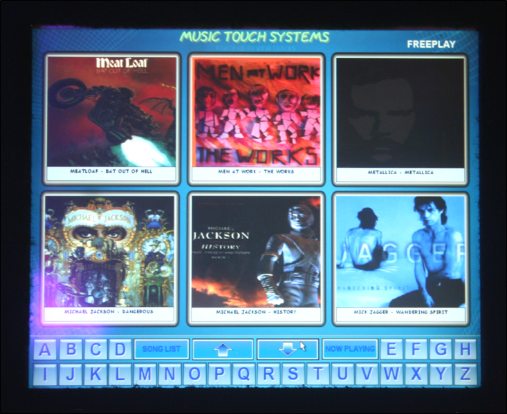 Jukebox Hire Darwin Touch Screen